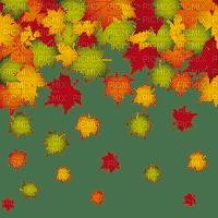 AUTUMN LEAVES border frame -- automne feuilles cadre deco