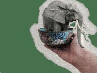 elephant fantasy hand cup deco tube
