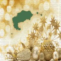 christmas noel frame cadre fond ball gold overlay