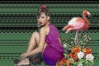 Kaz_Creations Woman Femme Purple Pink Flamingo