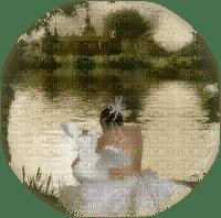 woman swan femme cygne