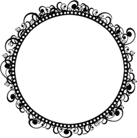 Kaz_Creations Frames Frame Circle Black
