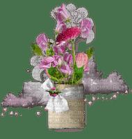 Vase et bouquet - effet de fond