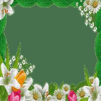 spring printemps flower fleur blossom fleurs blumen  tube frame cadre rahmen overlay green