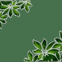 green leaves border frame cadre vert feuilles