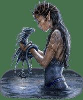 mujer con dragon by estrellacristal