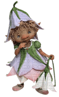 gnome child  flower enfant  fleur