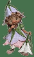 gnome child  flower enfant  fleur