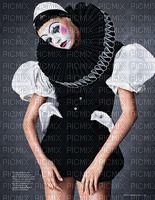 image encre carnival Venise harlequin pierrot femme  edited by me