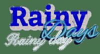 Rainy day.Text.blue.Victoriabea
