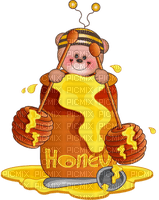 Kaz_Creations Cute Cartoon Love Bees Bee Wasp Bears