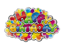 happy birthday deco text colorful texte couleurs