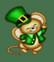 souris,Leprechaun,deko,tube, GIF, animation, scrapbooking, jour de St Patrick,adam64