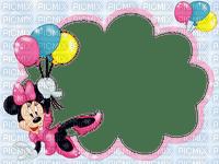 image encre bon anniversaire color effet  Minnie ballons Disney edited by me