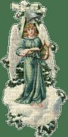 turquoise Angel on cloud, Joyful226