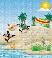 image encre bon anniversaire dessin plage été paysage  color effet  Mickey Disney edited by me