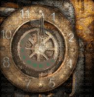 steampunk clock montre uhr steel overlay brown tube  fond background image regarder acier