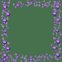 purple bubble frame cadre violet