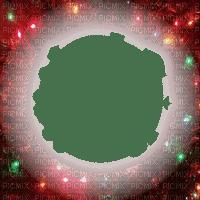 christmas lights frame cadre noel lumiere