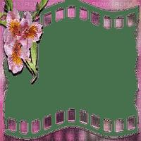 frame pink flowers cadre fleur