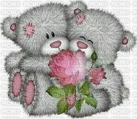 Alpha Teddy Bears With Rose