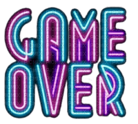 TEXT NEON GAME OVER