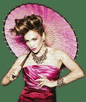 Woman Violet Gold Asia China Umbrella  - Bogusia