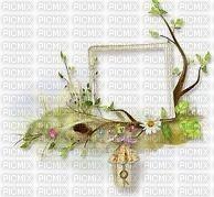 Frame branche et fleurs