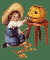 halloween child pumpkin enfant citrouille