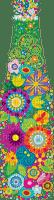 multicolore image encre couleur fleurs printemps pastel bouteille coin barre border anniversaire edited by me