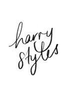 Kaz_Creations Harry Styles One Direction Singer Band Music  Signature Logo Text