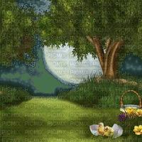 background fond easter ostern Pâques paques spring printemps frühling primavera весна wiosna flower fleur  garden jardin paysage landscape image duck chick küken bird oiseaux moon lune mond tube grass race