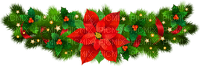 poinsettia border deco christmas