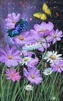 flores com borboleta