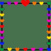 heart herz coeur love liebe cher tube valentine colored colorful aime frame cadre rahmen