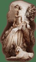 kvinna-hund-beige----woman and dog