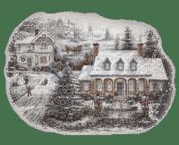 paysage d'hiver  maisons