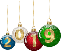 Ball Christmas new year 2019 silvester