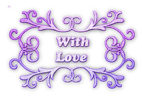 soave text deco with love valentine's day purple
