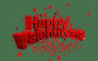 happy valentines text red deco