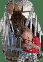 child boy horse-enfant garçon cheval-cavallo bambino-barn pojke häst