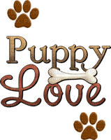 Kaz_Creations Deco Text Puppy Love