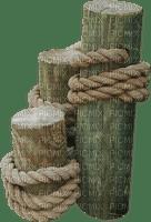 sea wooden pilars