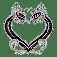 cadre, perles, diamants, dentelle, coeur, Orabel