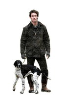 Man with dog.chien.perro.homme.hombre.Victoriabea