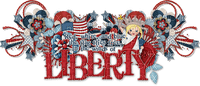 Kathleen Reynolds 4th July American USA Logo Text Liberty