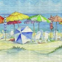 watercolor summer scene