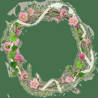 cadre fleur cercle pink  circle frame flower
