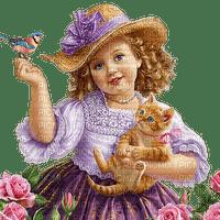 child vintage cat enfant chat