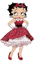 BETTY BOOP DRESS RED ROBE PETIT POIS